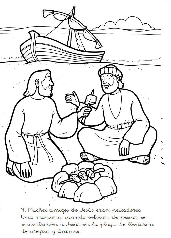 Jesus and Mary at the wedding feast of Cana Catholic Coloring page ...