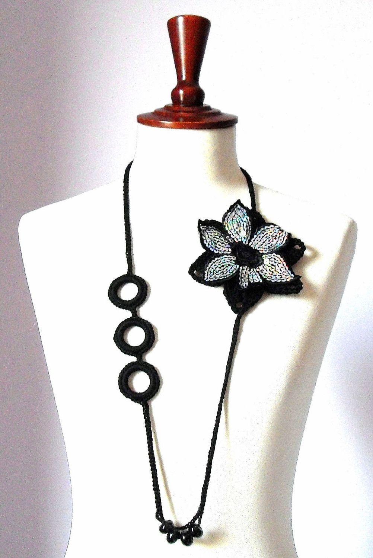VENICE - Handknit Crochet Necklace. $65.00, via Etsy.