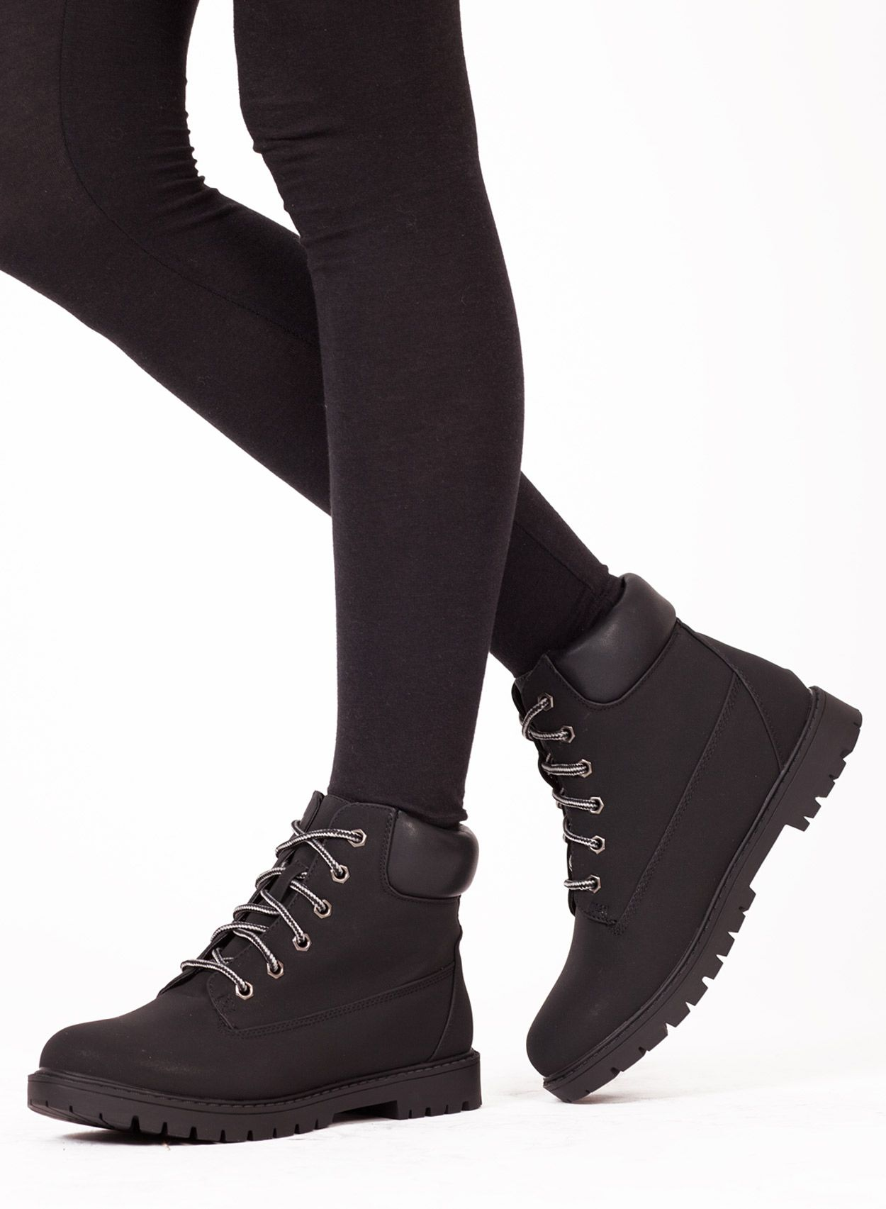 Shop Women's Black Trucker Desert Boot. Buy retro & indie fashion at Phix  ...