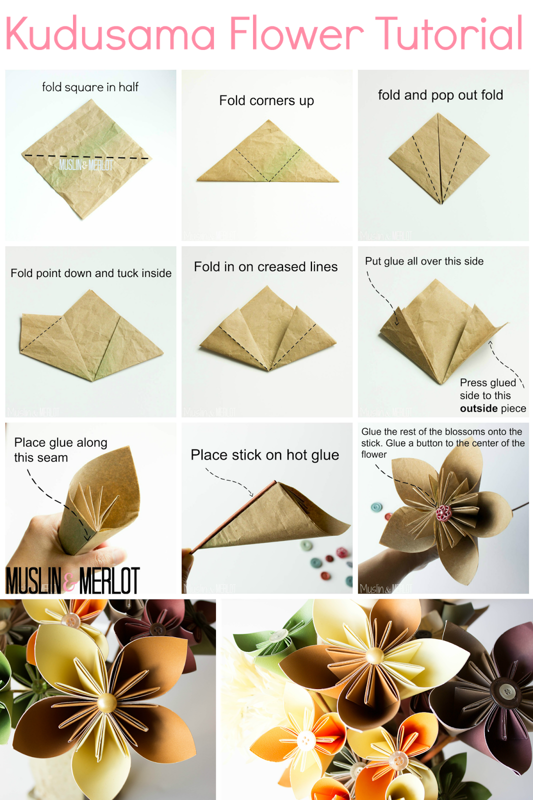 Kusudama Flower Tutorial Pinterest Flower Tutorial Tutorials