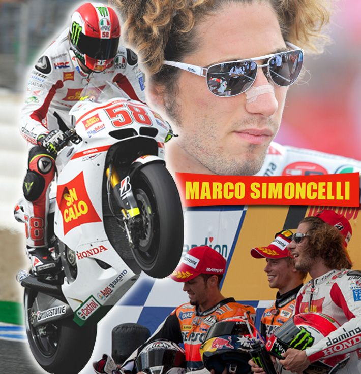 Marco Simoncelli . Gone too soon