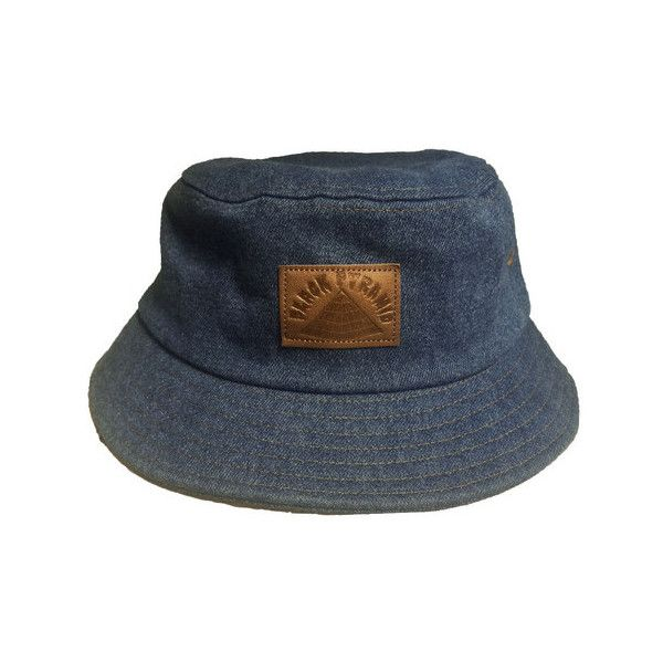 b29949fe45c B.P. Denim Bucket Hat with leather patch ❤ liked on Polyvore ...