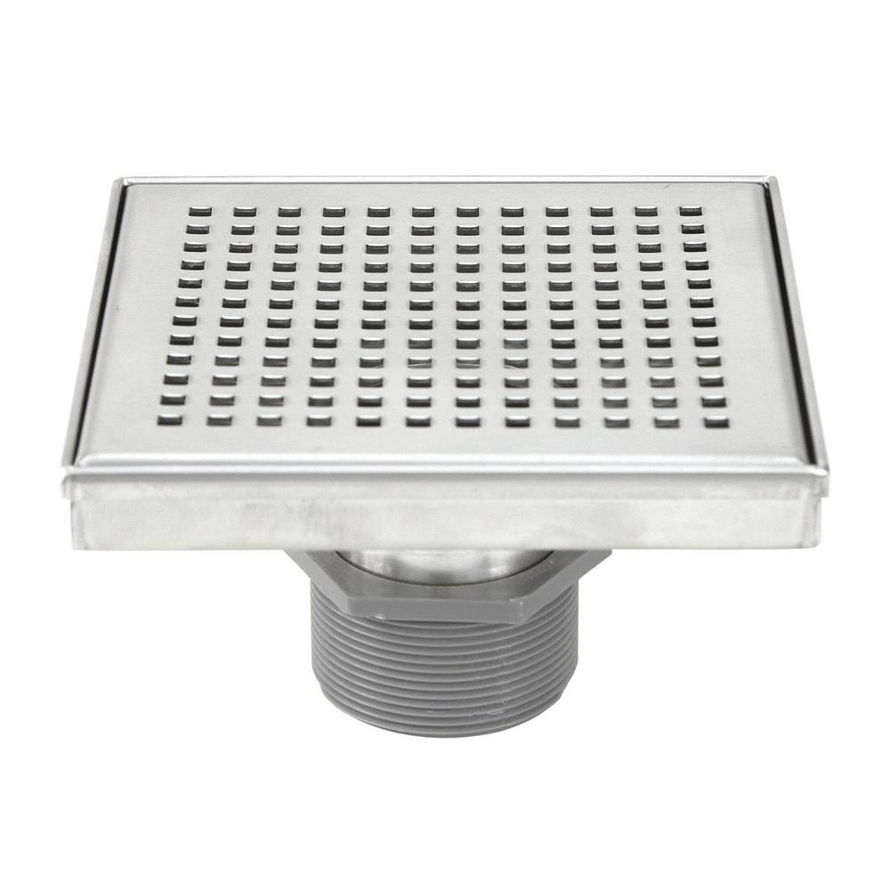 Emoderndecor Shower Square Linear Drain 6 In Brushed 304
