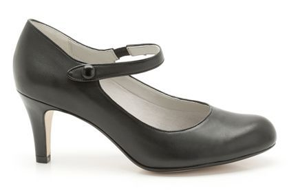Womens Smart Shoes - Arista Ash in Black Leather from Clarks shoes