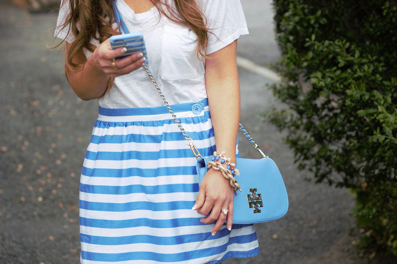 Bright Blue Stripes
