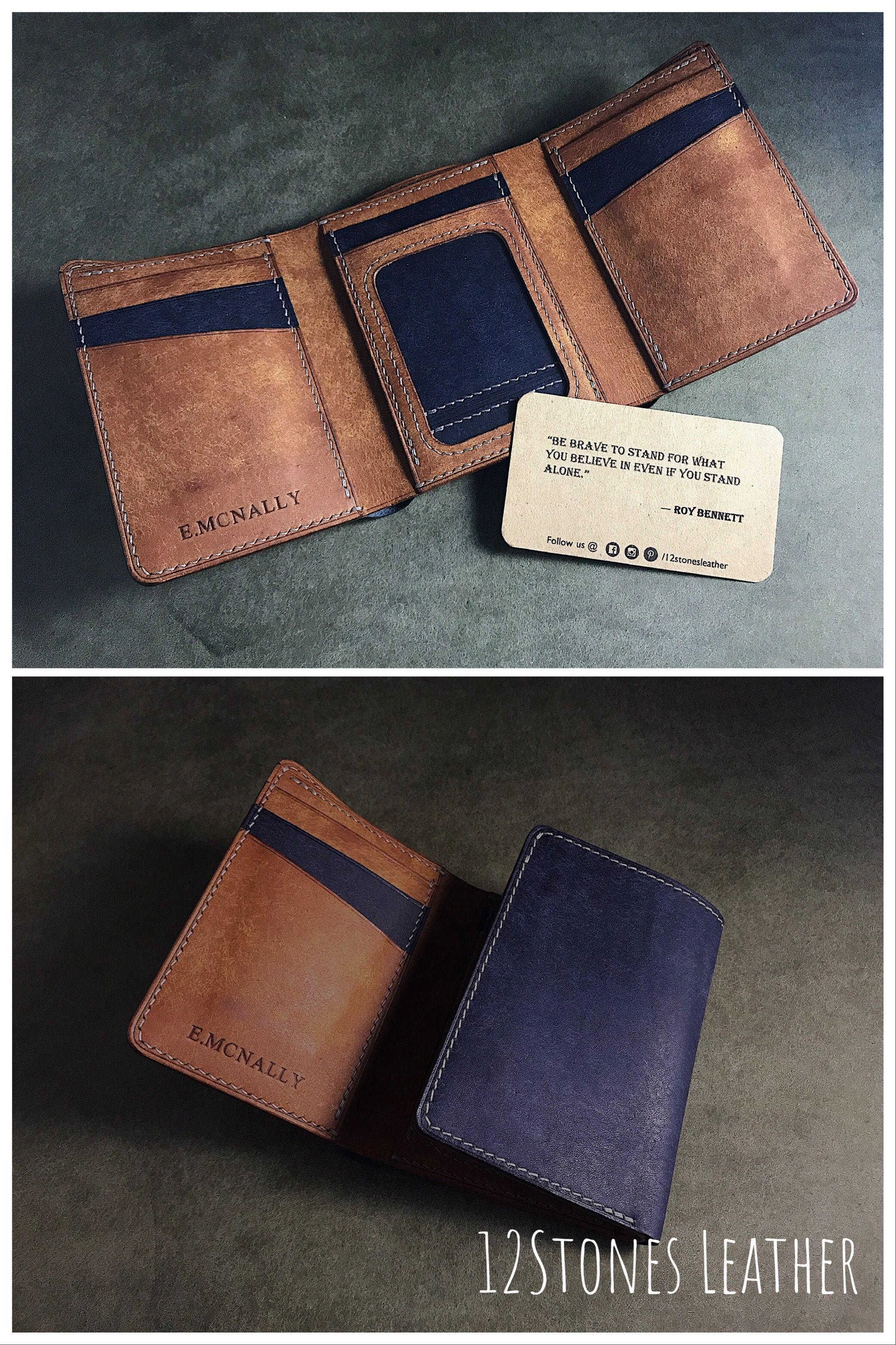 LARGE HANDMADE REAL HUNTER CARDS AND CASH NOTES WALLET