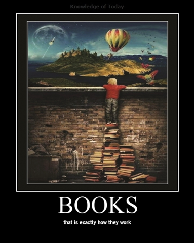 Books, this is exactly how they work
