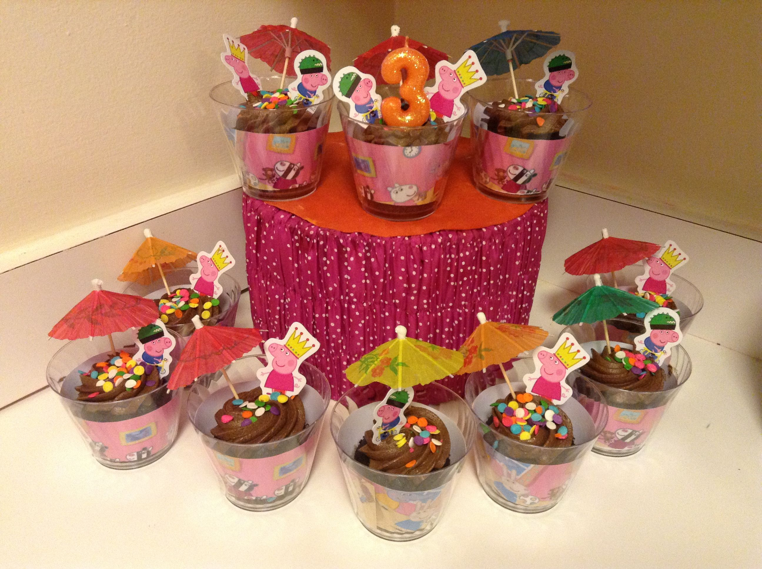 Muddy Puddle Cupcakes Peppa Pig Party Pig Party Party Items