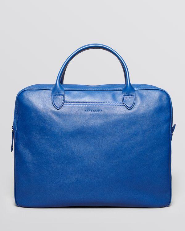 4605d2043e21 Longchamp Parisis Leather Brief Leather Briefcase
