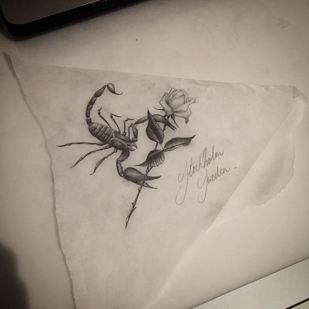 5b1bb1956 Scorpio Rose Tattoo Design | tattoos | Tattoo designs, Tattoos ...