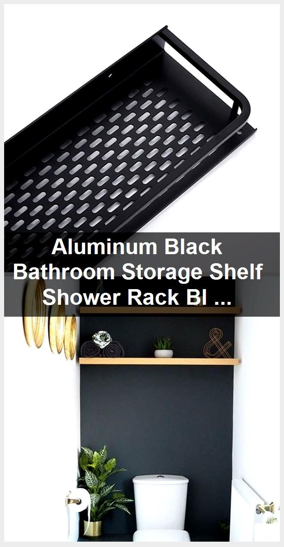 Photo of Aluminum Black Bathroom Storage Shelf Shower Stand Black Modern Faucets …