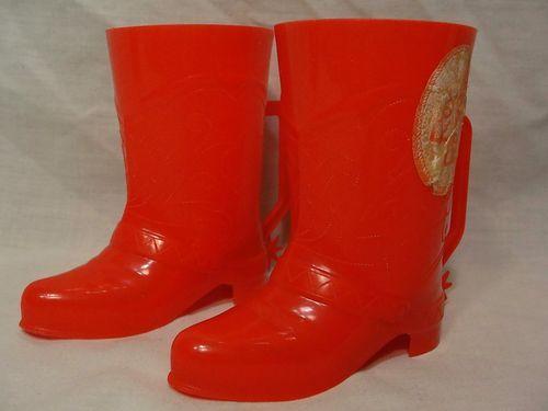 Vintage Roy Rogers Red Plastic Souvenir Travel Western Cowboy Boots Spur Cup Mug | eBay
