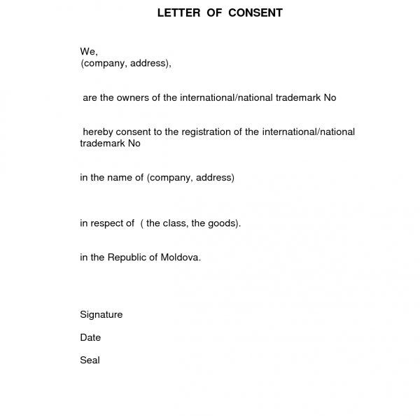 Format For Consent Letter Best Template Collection Regarding