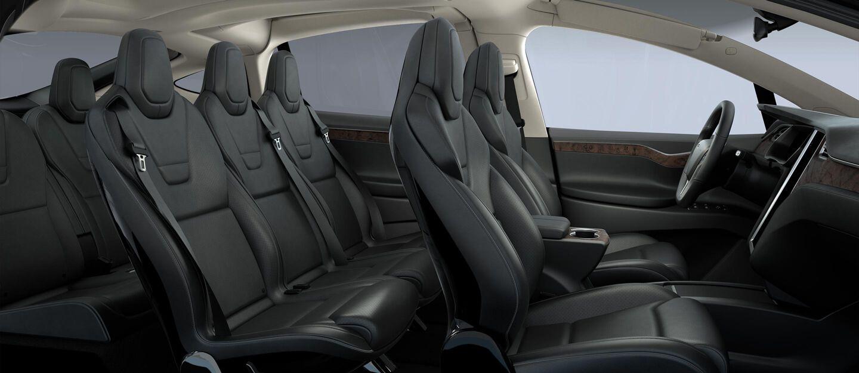 Model X Interior Tesla 7 passenger seating sedan