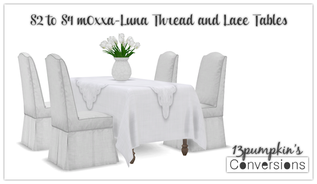 Sims 4 CC's - The Best: TS2 Lace Dining Set Conversions by 13Pumpkin31