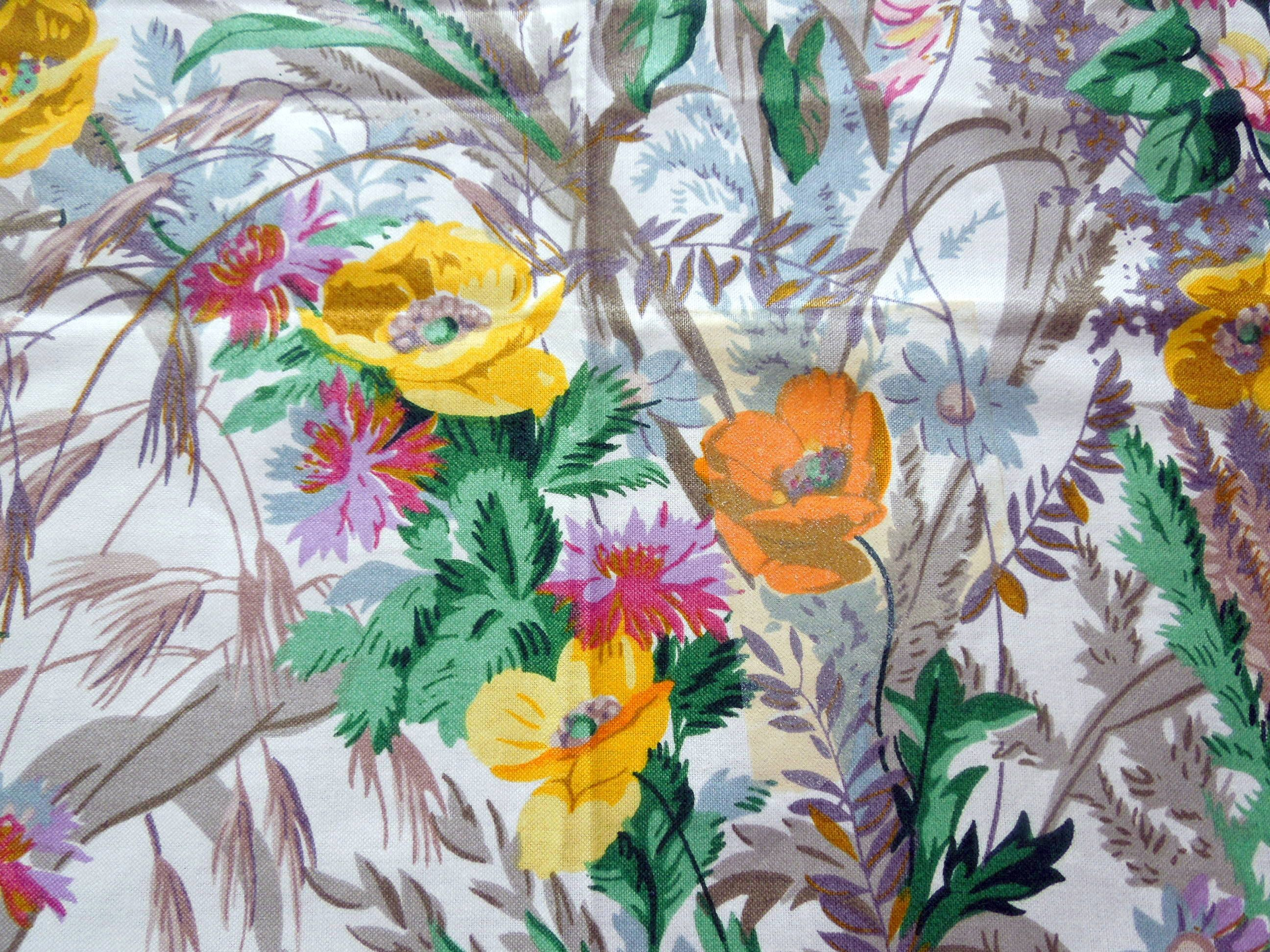 clearance sanderson fabric ceres floral chintz registered design