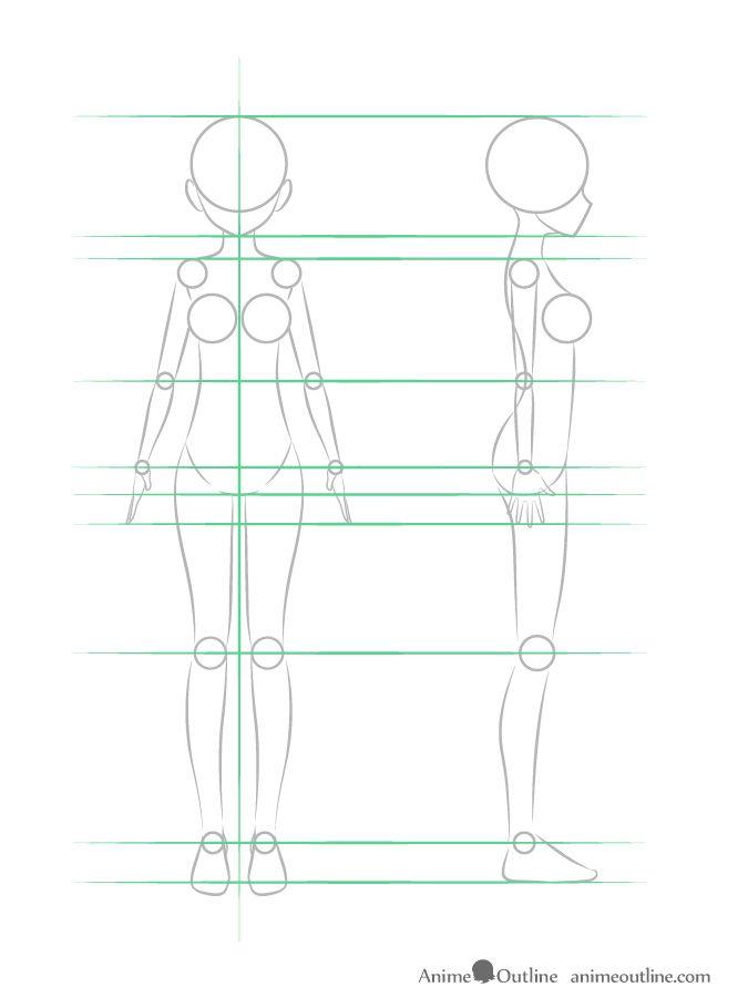 Photo of How to Draw Anime Girl Body Step by Step Tutorial – AnimeOutline