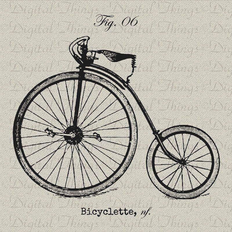 Vintage Bike Bicycle Cycle French Digital Download for Iron on ...