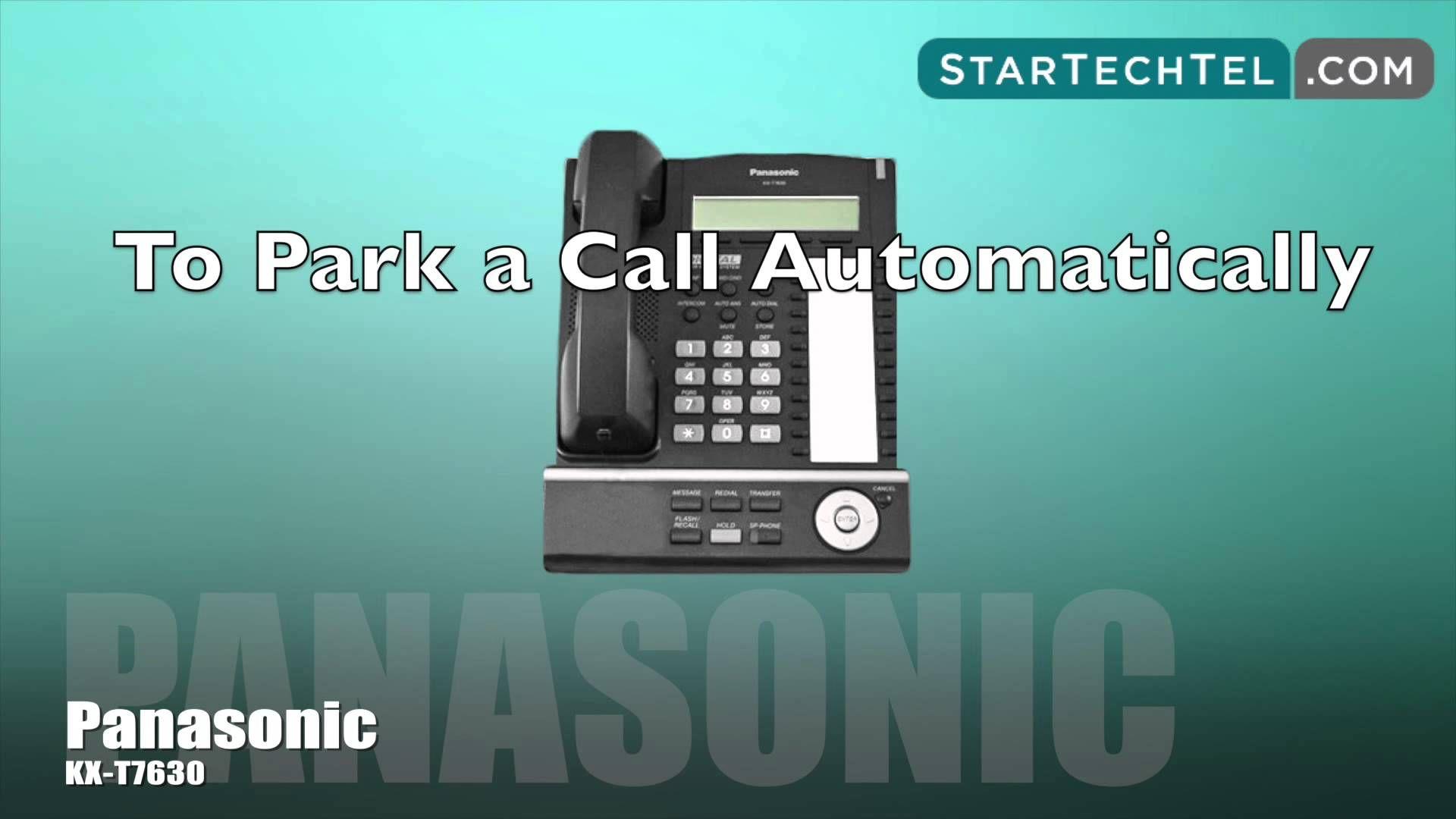 How To Park And Retrieve A Call On The Panasonic Kx T7630 Phone Phone Panasonic Tutorial