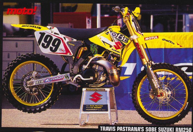 Travis Pastrana Team Suzuki Rm 250 Sobe Motorcross Bike Suzuki Dirt Bikes Yamaha Motocross