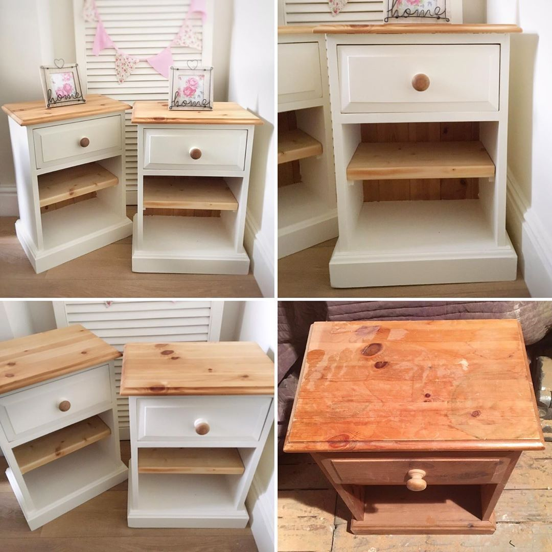 What A Difference Lovely Pair Of Solid Pine Bedsides Completed Today Upcycledfurn Upcycled Furniture Diy Painted Bedroom Furniture Furniture Bedside Table