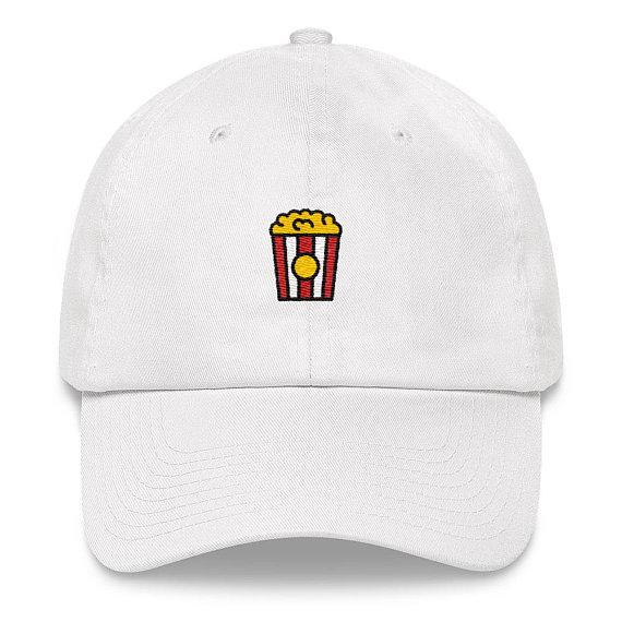 Popcorn Dad Hat - Popcorn Hat - Popcorn - Popcorn Bag - Popcorn Emoji -  Popcorn b76c6771b45e