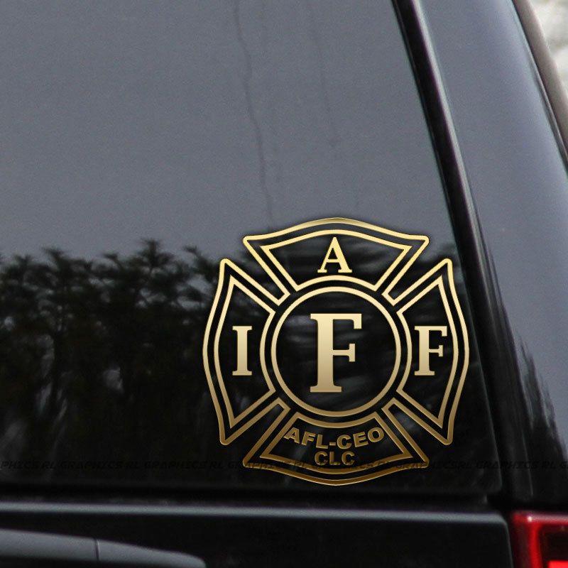 Details about IAFF Fireman Decal Sticker International Fire Dept
