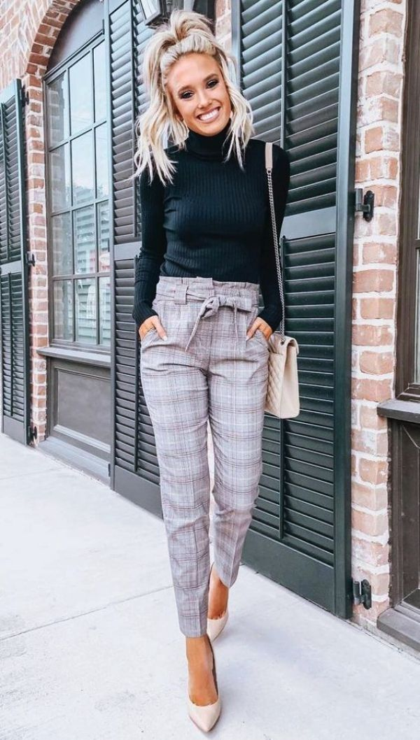50 Outfits For Short Women To Look Taller #womensworkoutfits
