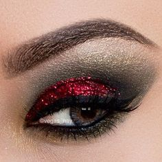 The Best Black And Red Glitter Eyeshadow Pics