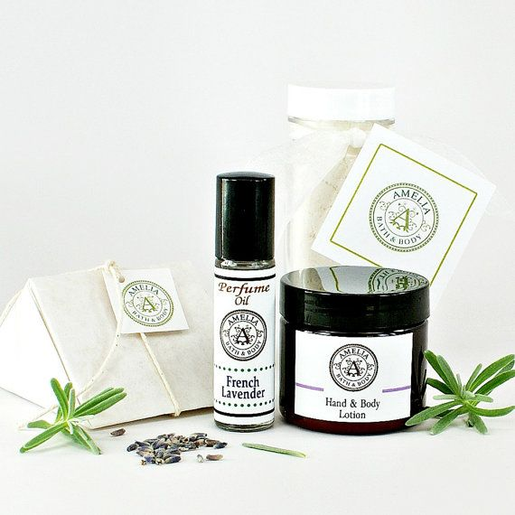 Lavender Gift Set of Four 4 Items  Milk Bath by AmeliaBathandBody #AmeliaBathandBody #etsyfind #chaoscurators