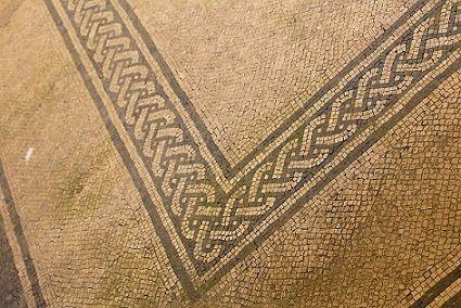 Roman mosaics,Russi,Italy