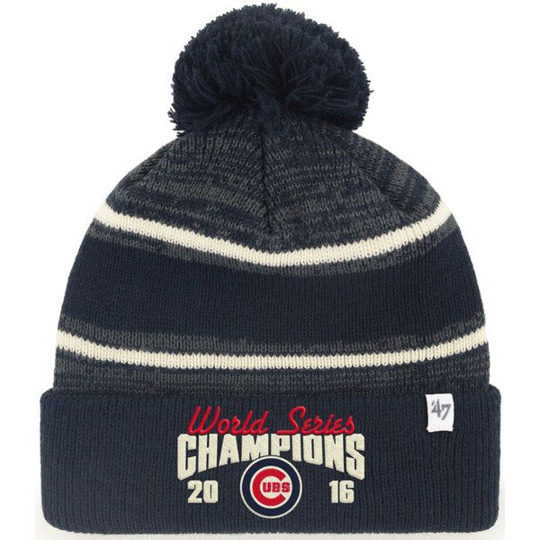 Chicago Cubs 2016 World Series Champions Fairfax Cuffed Knit Hat   ChicagoCubs  Cubs  FlyTheW  WorldSeries SportsWorlCchicago.com 16769c9eb1e