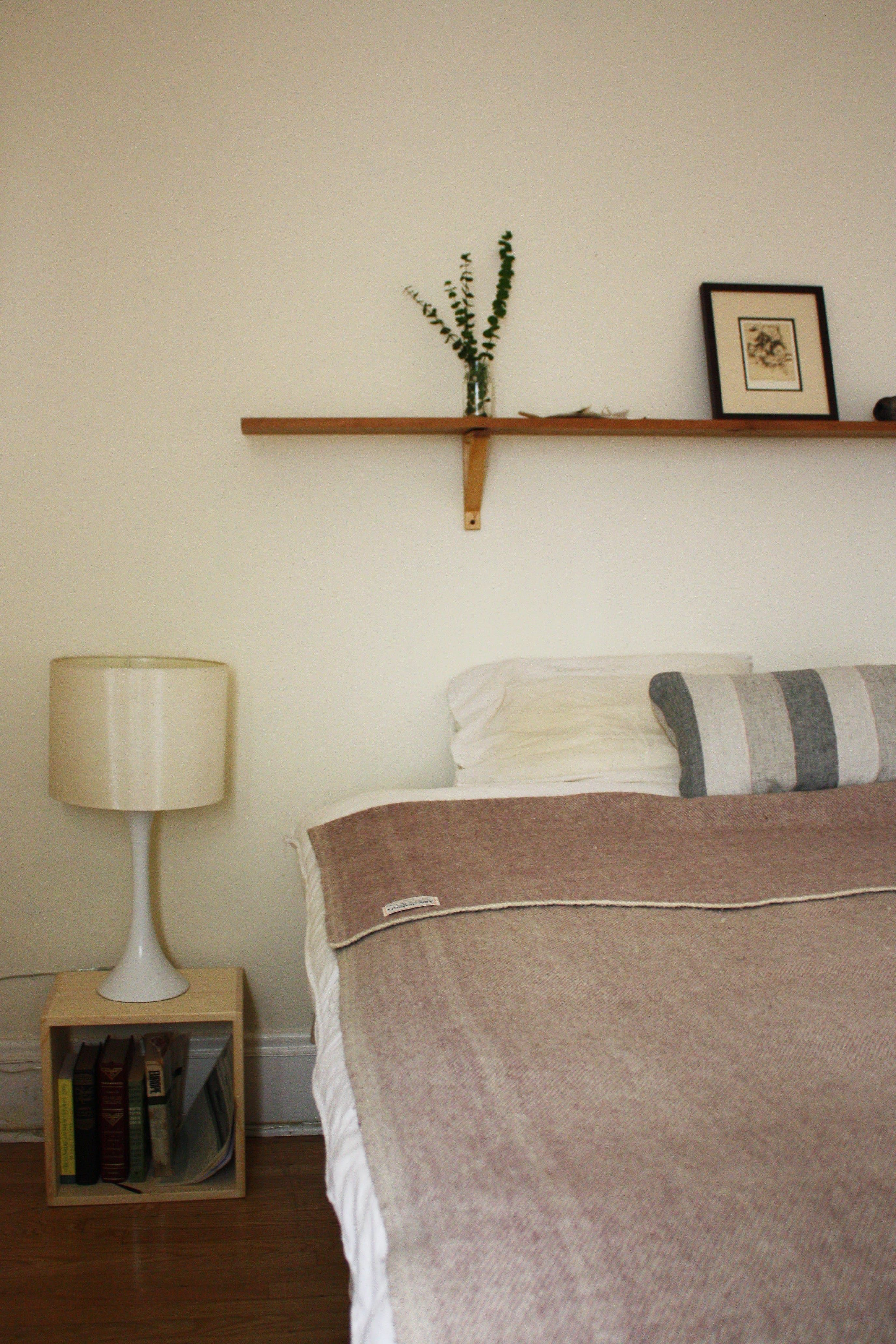 Rebecca & Eric's Global Territory Shelf over bed