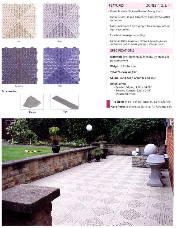 Patio Deck Tiles Recycled Rubber: Unique Tile Outside Interlocking Tile Deck Tiles