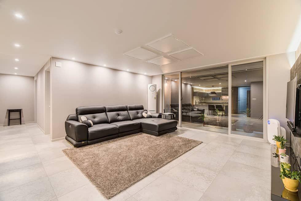 인테리어 디자인 아이디어, 내부 개조 & 리모델링 사진  아파트