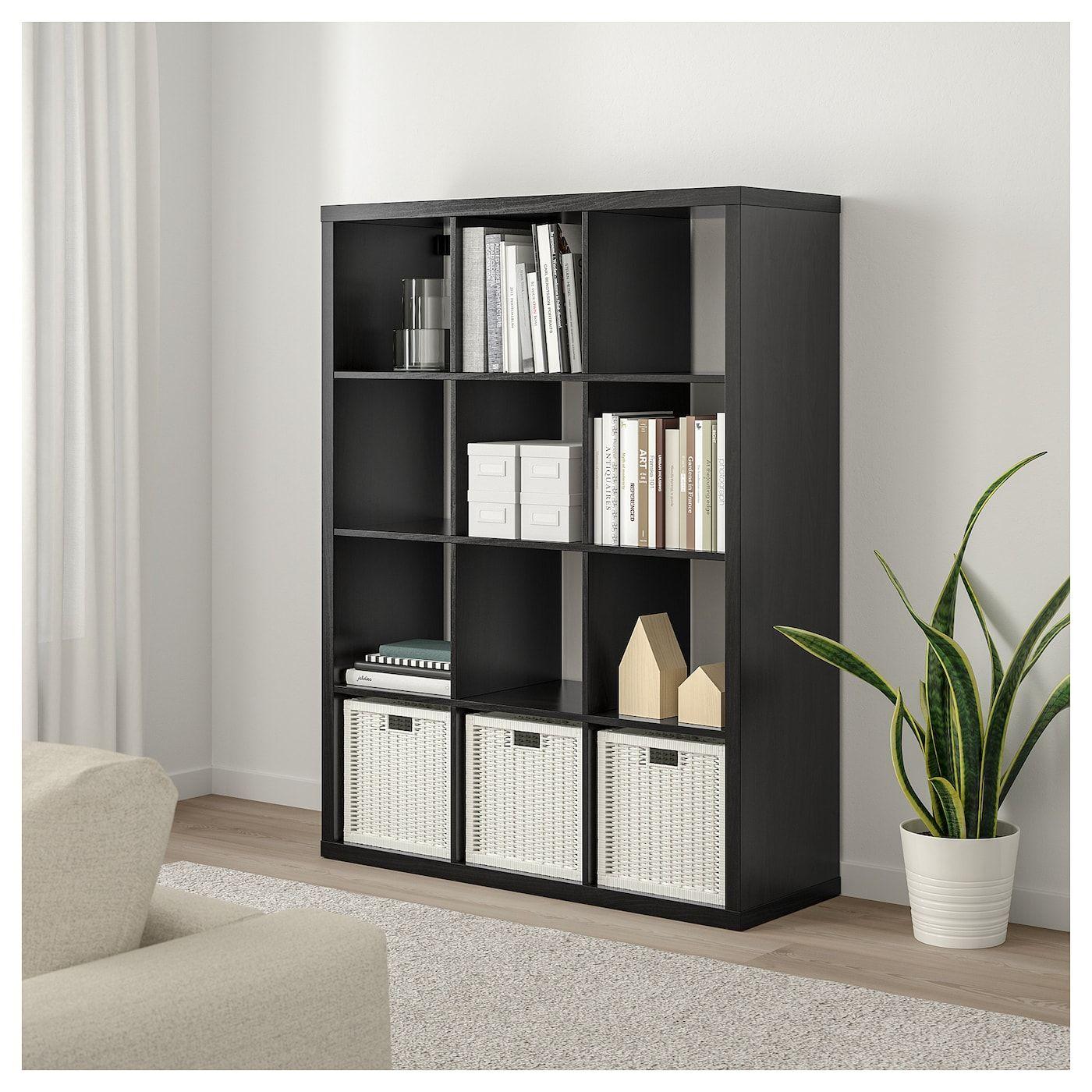 Kallax Shelf Unit Black Brown 44 1 8x57 7 8 With Images