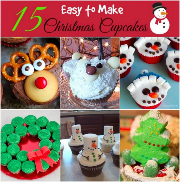 here is a wonderful collection of 15 easy to make christmas cupcake decoration ideas