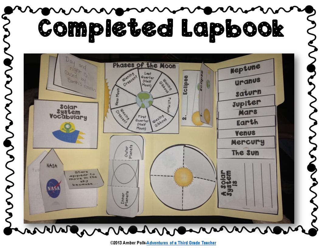 Solar System Lapbook Unit Common Core