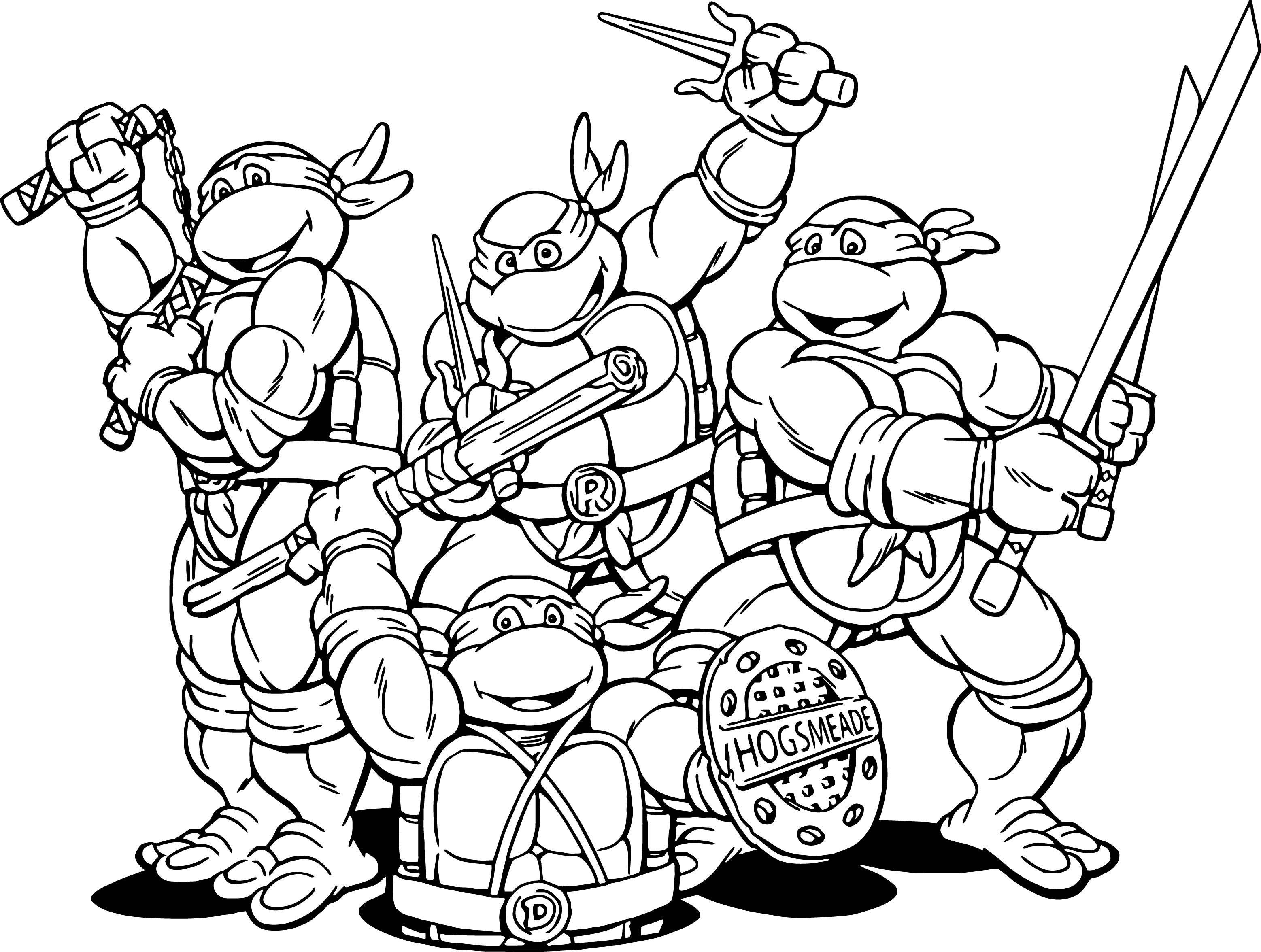 Ninja Turtles Cartoon Coloring Pages 2 O Teenage Mutant