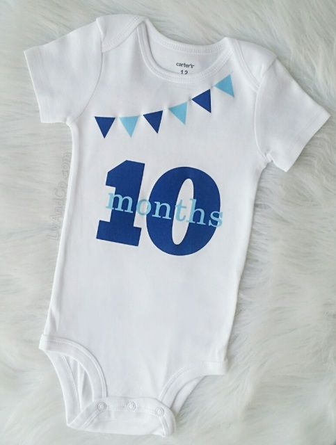Baby Boy Monthly Milestone Outfit Boy Baby Shower Gift Baby Boy Outfits Baby Month By Month Baby Boy Gifts
