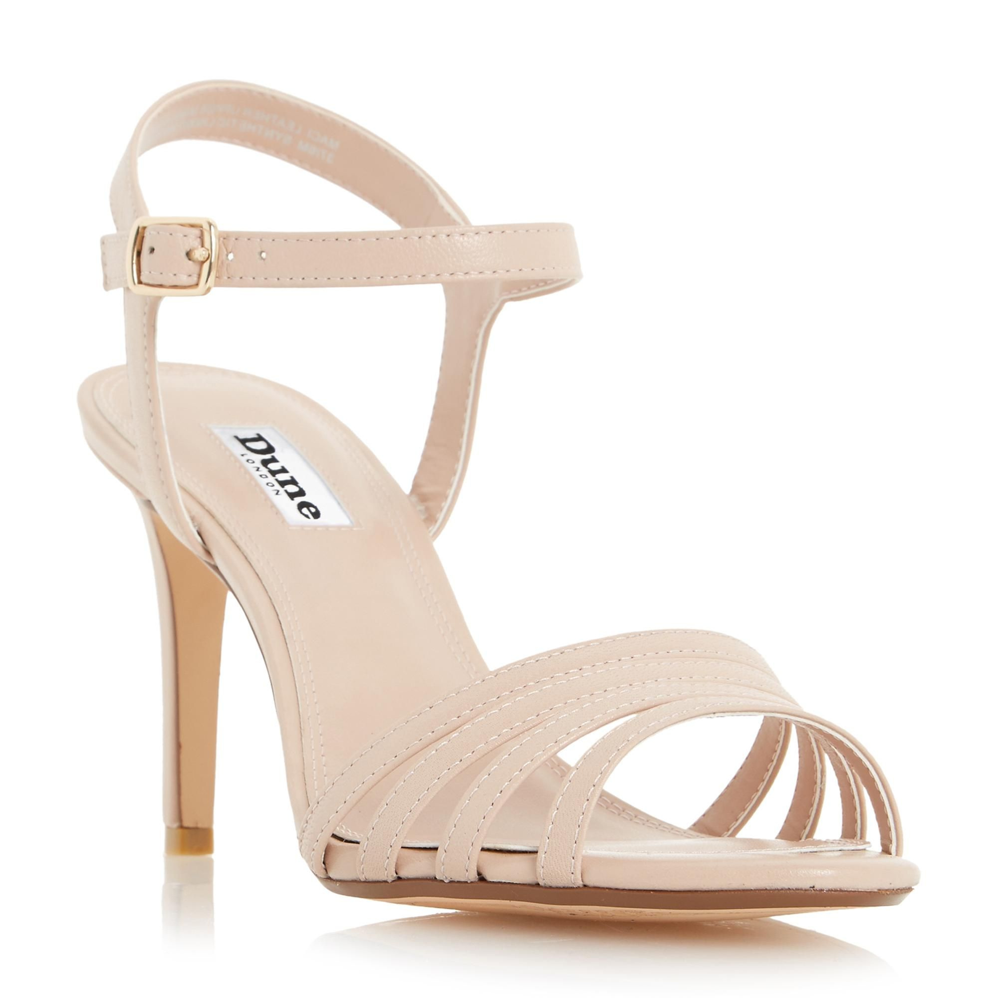DUNE LADIES MACI - Strappy Two Part Mid Heel Sandal - nude | Dune Shoes  Online