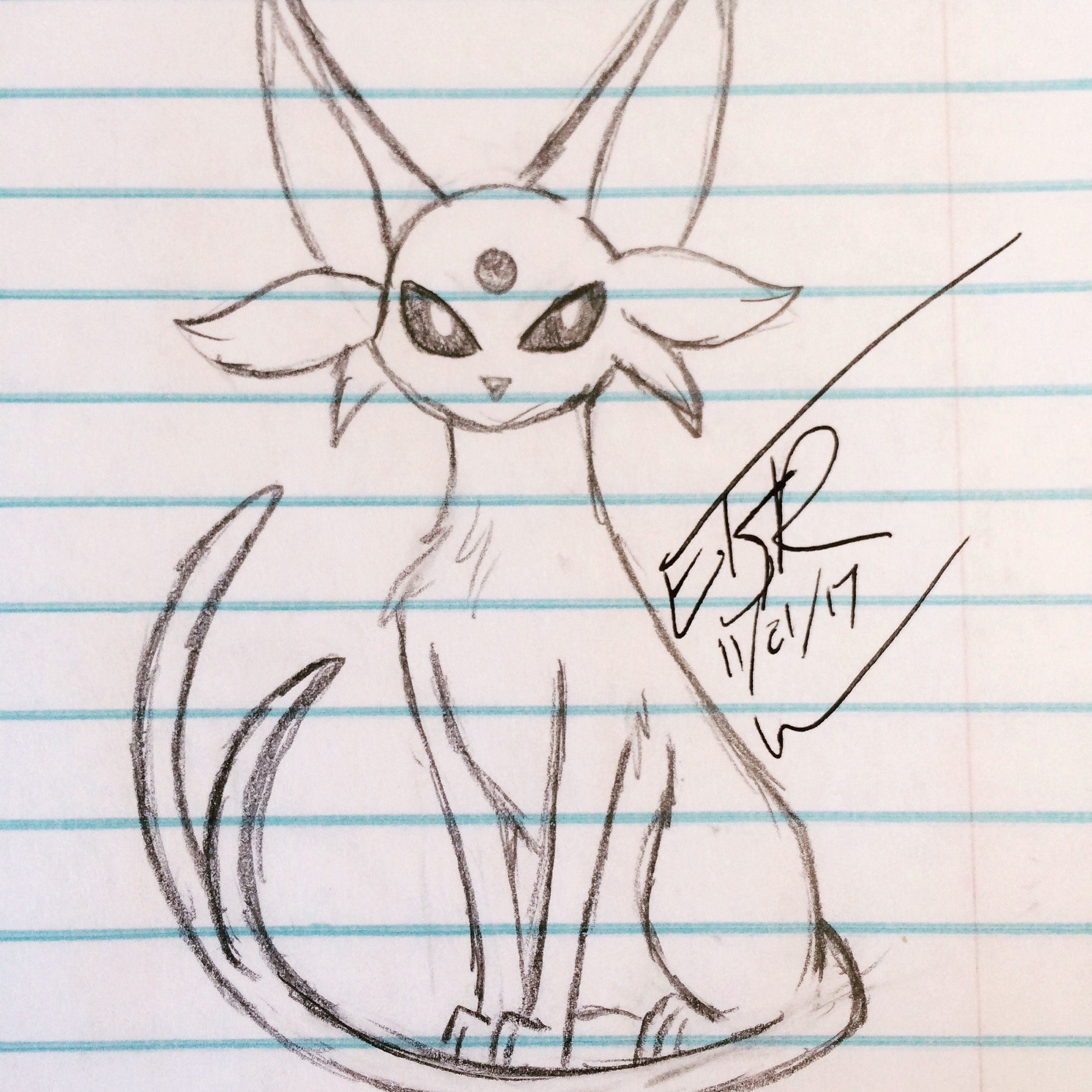Espeon my favorite evolution out of the eeveelutions drawing