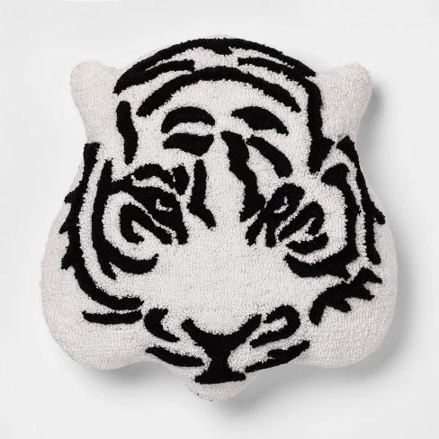 Tiger Throw Pillow Black White Room Essentials Target Tiger Throw Pillows Black White Rooms Room Essentials