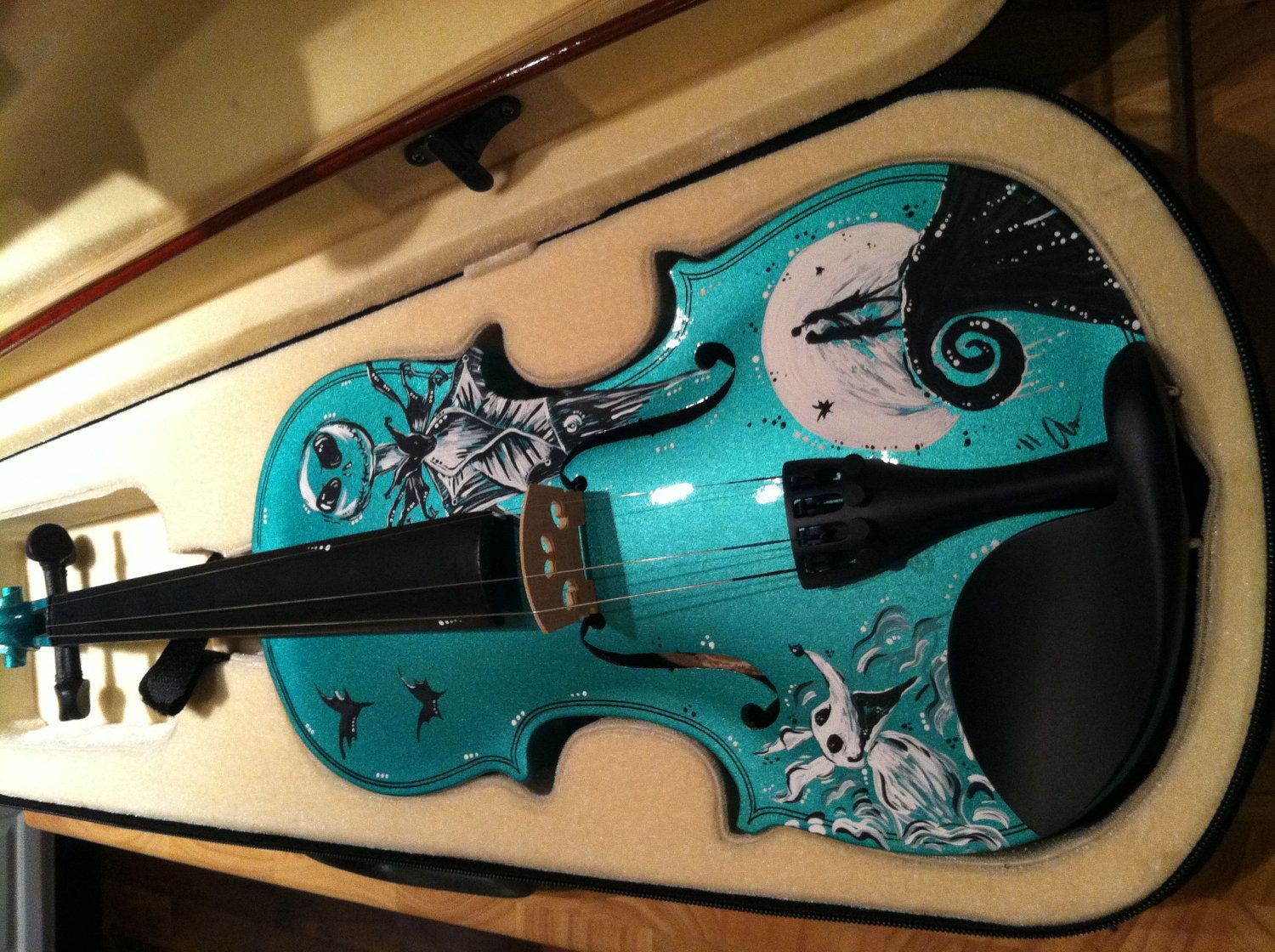 Child at Heart: Hand-painted Nightmare Before Christmas Violin ...