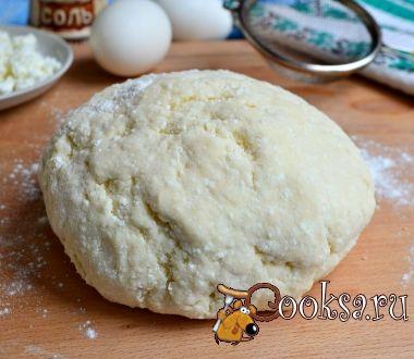 Творожное тесто для вареников на пару