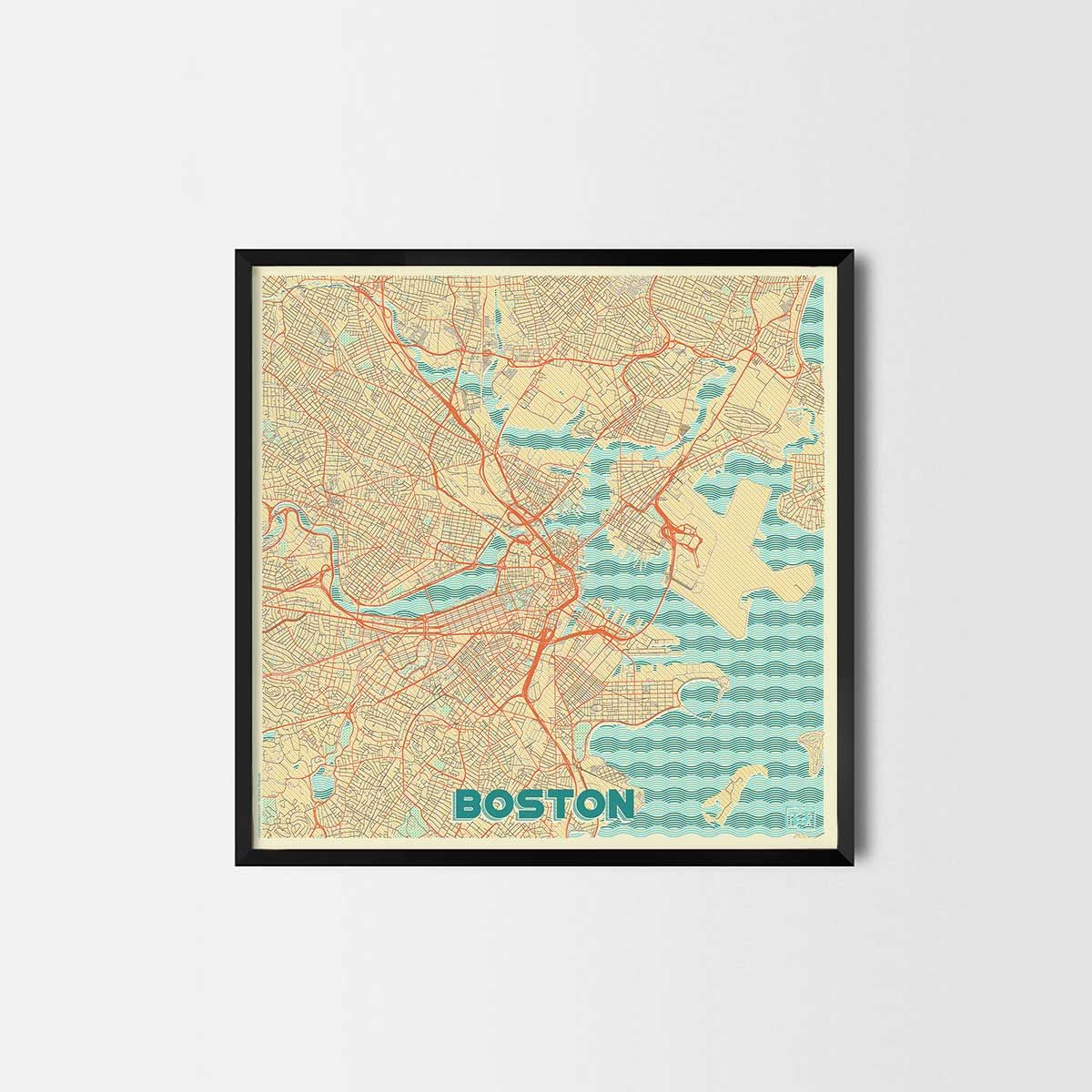 Boston City Prints - City Art Posters and Map Prints | Art posters ...