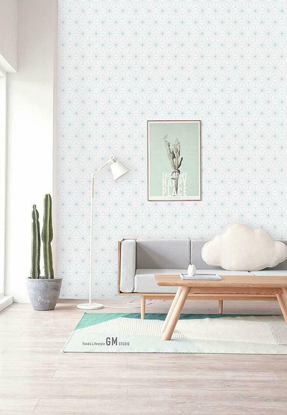 White Blue Geometric Peel And Stick Wallpaper Contact Paper Stripe Self Adhesive In 2020 Peel And Stick Wallpaper Wallpaper Dressing Table With Drawers