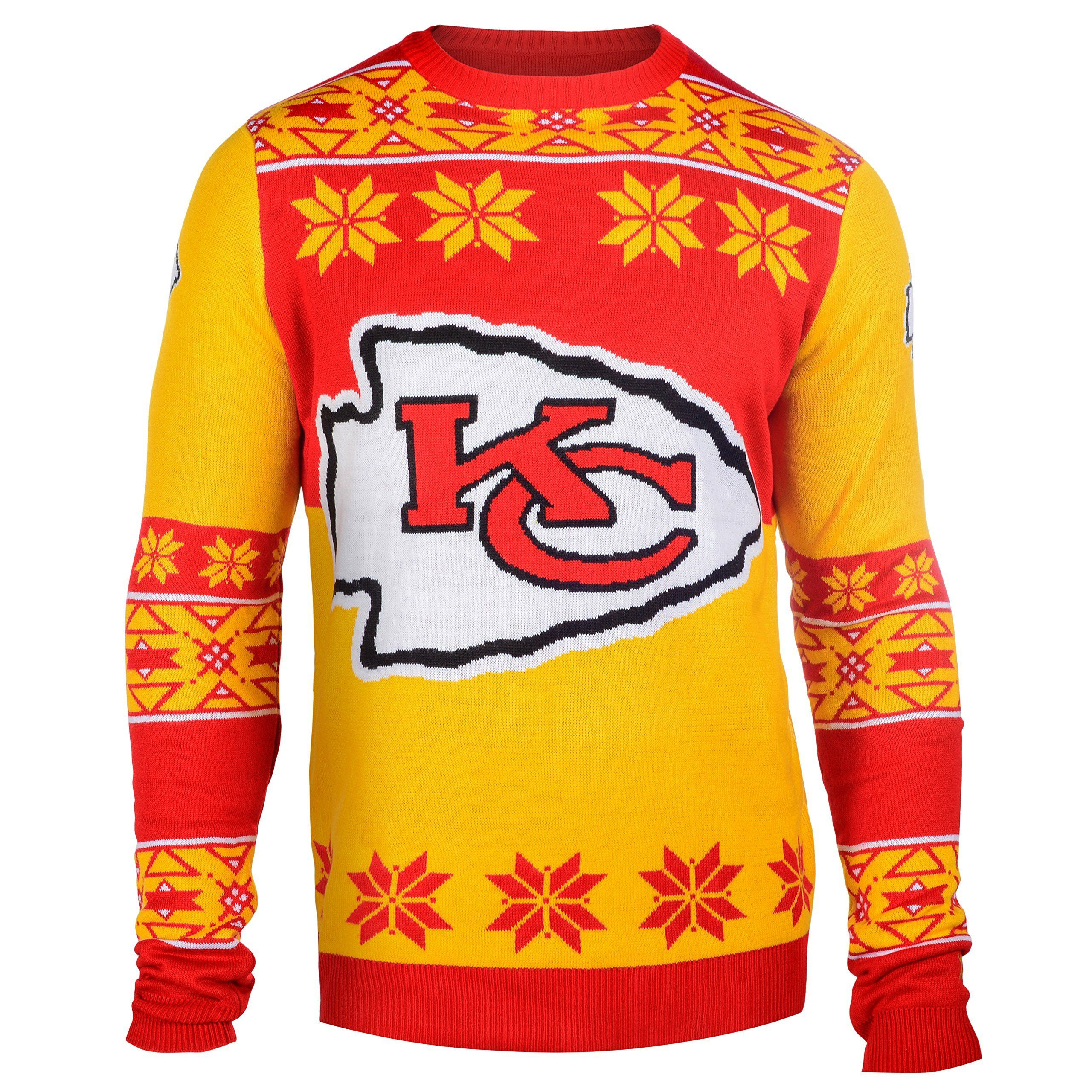 5f61dd53 Kansas City Chiefs Ugly Christmas Sweaters   Sports Themed Ugly ...