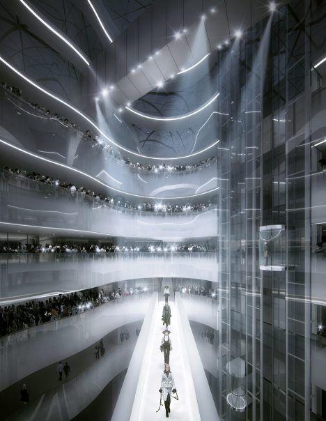 Mad Architects Designs Xinhee Design Centre Renderings Mad Design Architect Fashion Architect Design