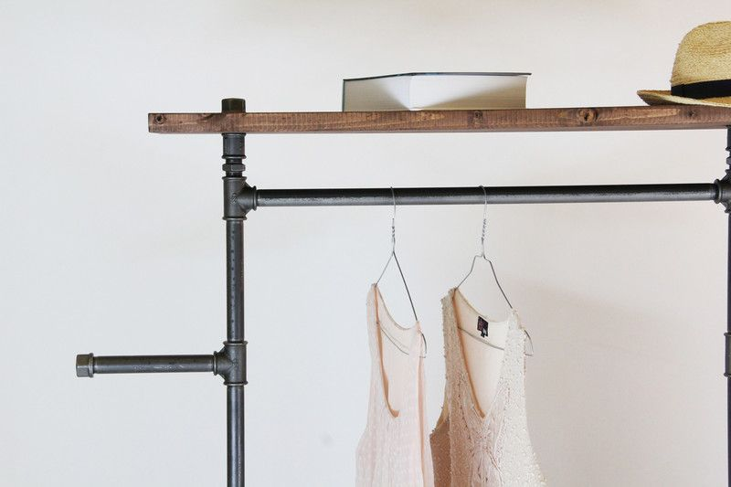 Kleiderstange Garderobe Industrial Style Rollbar Von Stahlrohr Art